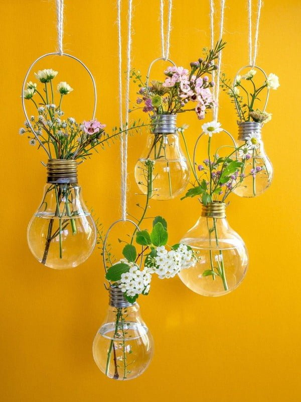 Spring Flowers #DIY #homedecor #craft #repurpose