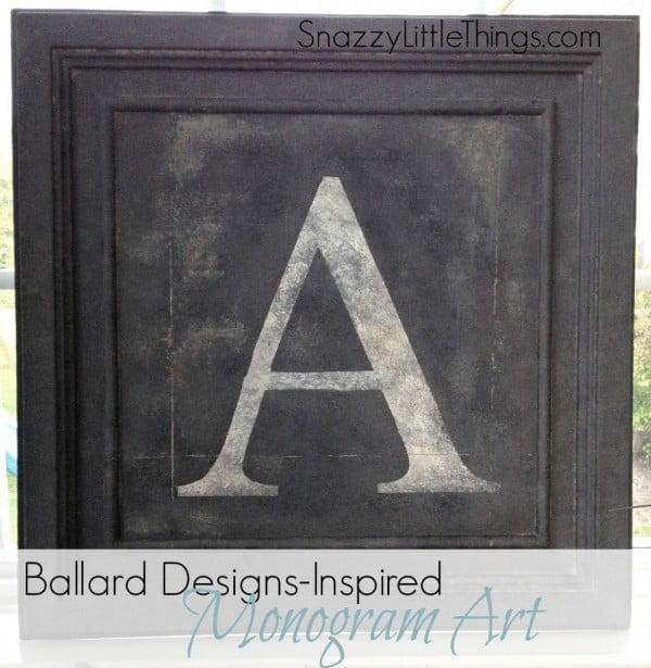 Ballard Designs DIY Monogram Art