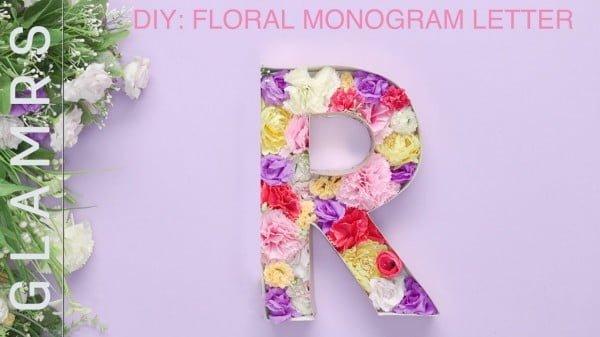 DIY Room Decor: Floral Monogram Letter