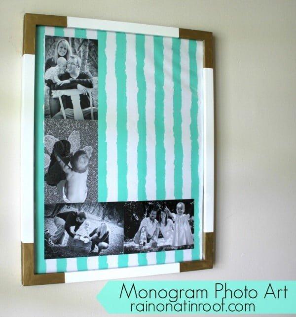 DIY Monogram Photo Art