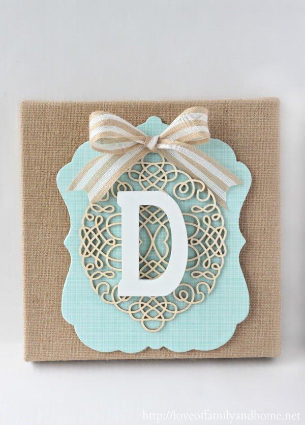 DIY Burlap Monogram {Michaels & Hometalk In-Store Pinterest Event}