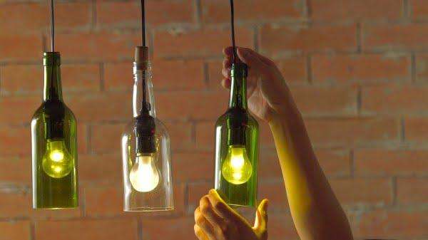 DIY: HOW TO MAKE WINE BOTTLE PENDANT LIGHTS