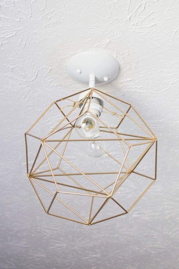 DIY Geometric Pendant Light