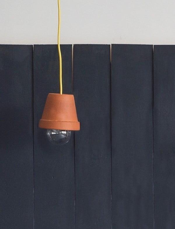 DIY: Flowerpot Pendant Light