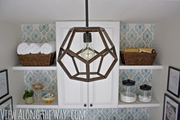 DIY Dodecahedron Pendant Light {And an Announcement!!}