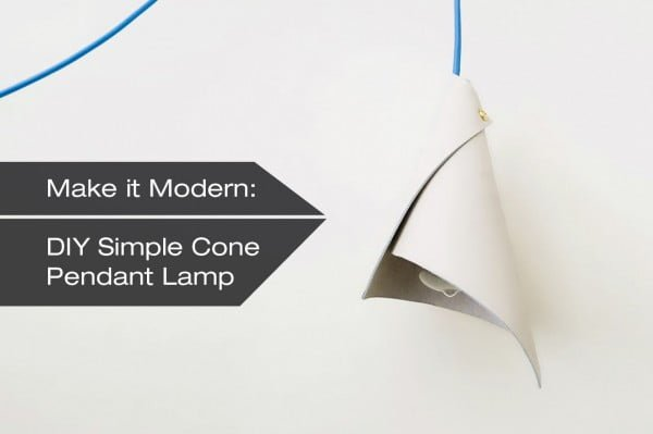 How to Make A DIY Simple Cone Pendant Lamp