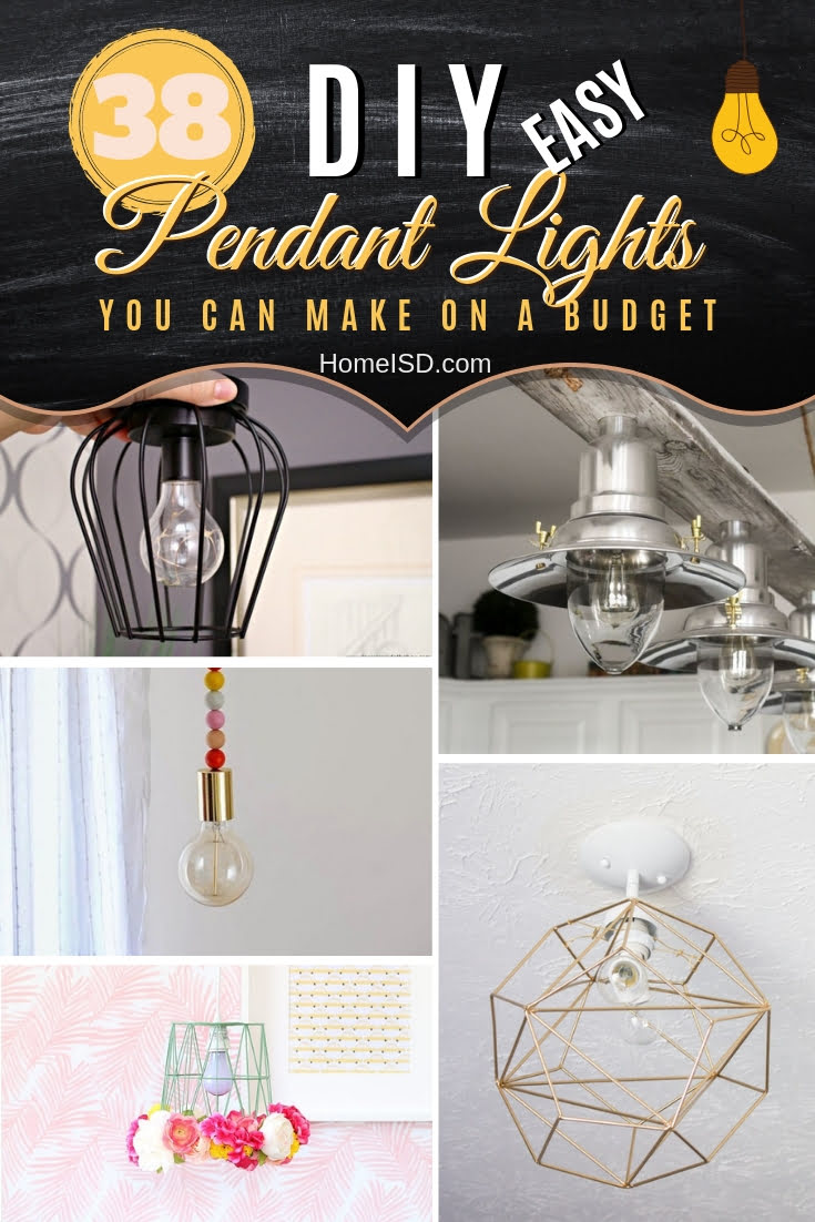 Make one of these stunning (but easy) DIY pendant lights for a functional decor feature. Great ideas! #homedecor #lighting #DIY