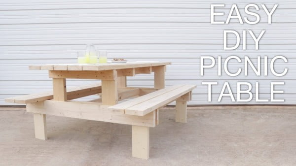 How To Build a Modern Picnic Table #DIY #woodworking #outdoors #backyard #garden