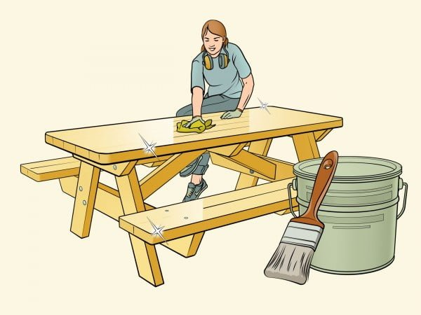 How to Build a Picnic Table #DIY #woodworking #outdoors #backyard #garden