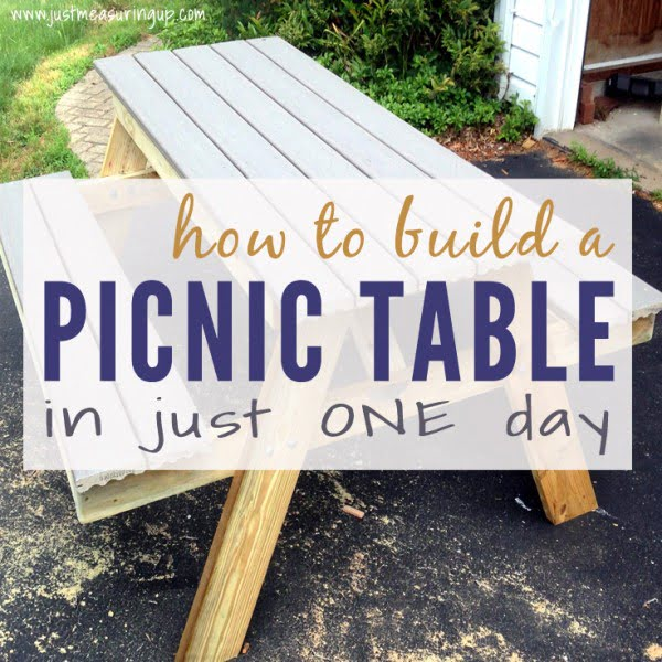 How to Build a Picnic Table in Just One Day #DIY #woodworking #outdoors #backyard #garden
