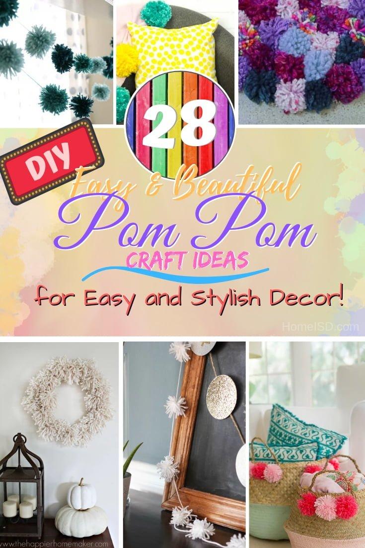 28 Captivating Diy Pom Pom Ideas For Easy Stylish Home Decor