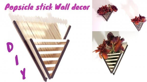 How to make Popsicle stick Wall decor