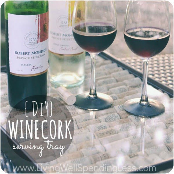 DIY Wine Cork Serving Tray