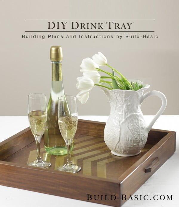 Build a DIY Drink Tray #DIY #organize #serving #homedecor #coffeetable