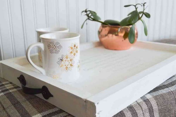 DIY Serving Tray for the Coffee Lover