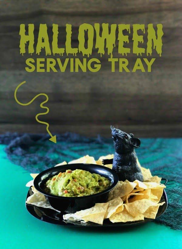 DIY Halloween Serving Tray