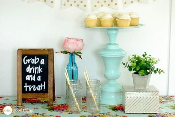 How To Make A Beautiful Serving Tray From A Thrift Store Lamp · Jillee