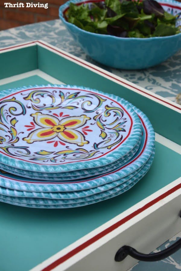 How to Make a Pretty DIY Serving Tray
