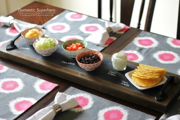 DIY Chalkboard Serving Tray • Domestic Superhero