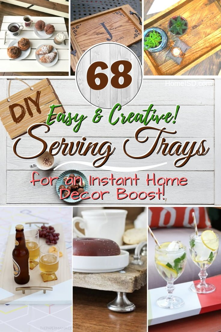 Boost up your home decor instantly with one of these wonderful DIY serving trays. Great list! #homedecor #DIY #crafts #woodworking #organize