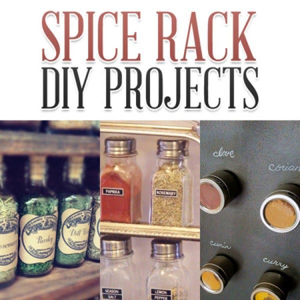 Spice Rack DIY Projects #DIY #organize #kitchendesign #homedecor