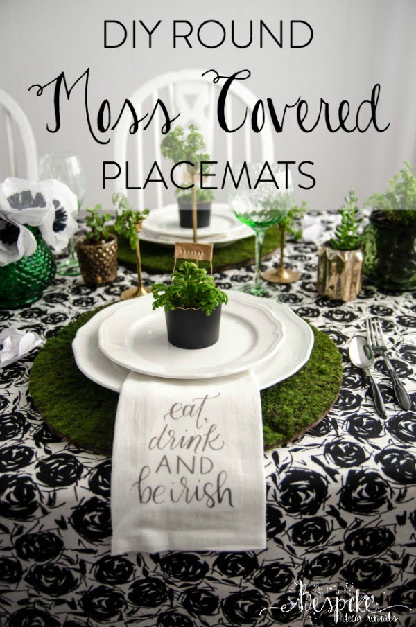 DIY Moss Placemats & Saint Patrick's Day Blogger Party!