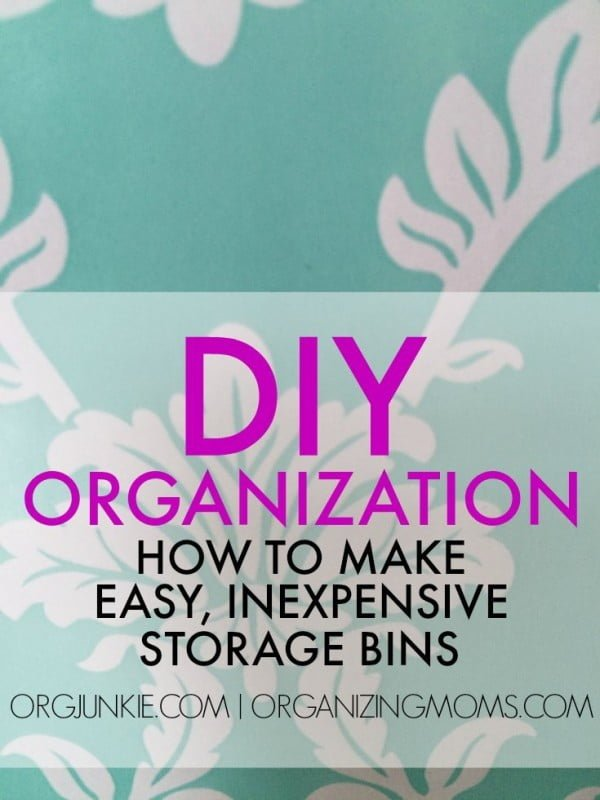 Easy, Inexpensive Storage Bins -