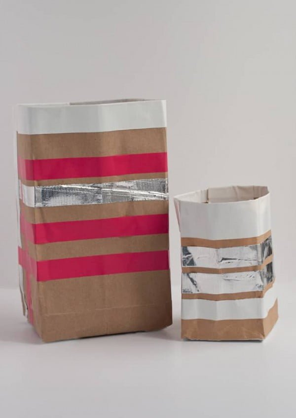 How to Make Paper Bag Storage Bins