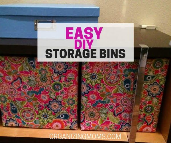 Easy DIY Storage Bins