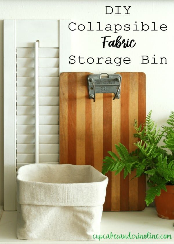 DIY Collapsible Storage and Organizing Bin