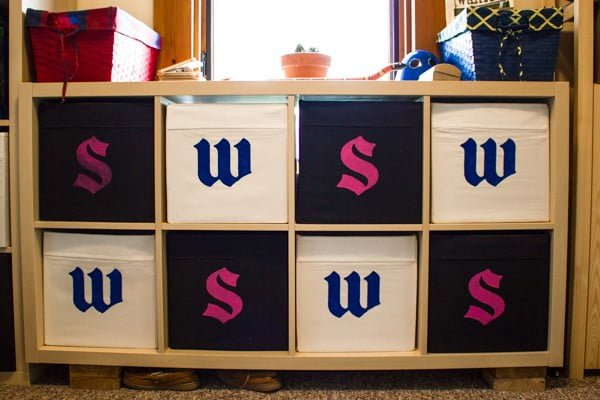 DIY Fabric Storage Bins + Review of Stencil Craft