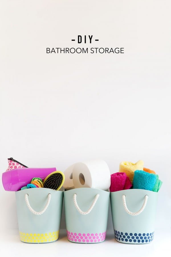 DIY BATHROOM STORAGE BINS