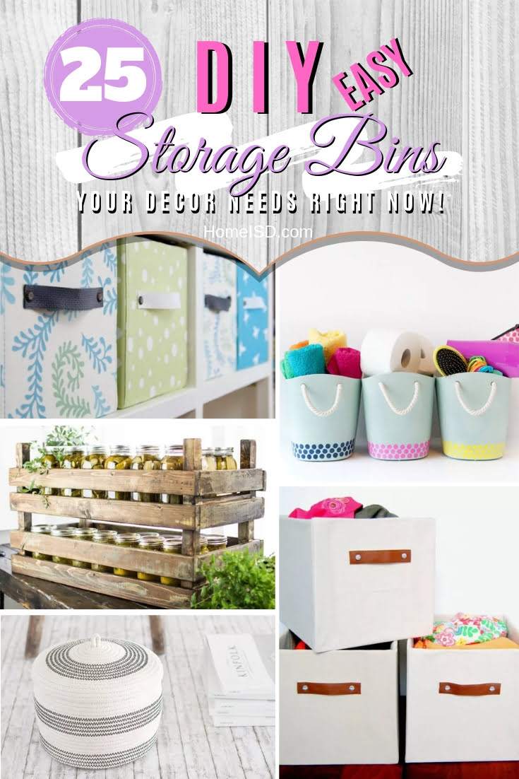 You need these stylish DIY storage bins to organize and decorate your home. And they're so inexpensive to make too! Great list! #homedecor #organize #DIY