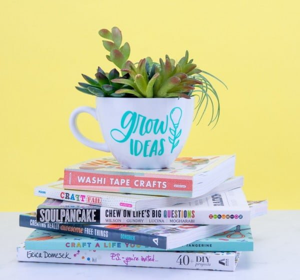 DIY Mug Succulent Planter
