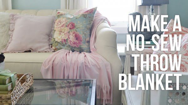Tip Tuesday: How to Make a No Sew Throw Blanket #DIY #homedecor #crafts