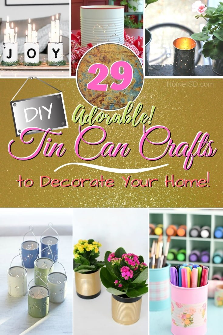 Create wonderful home decor by reusing old tin cans. Brilliant ideas! #DIY #crafts #tincan #homedecor