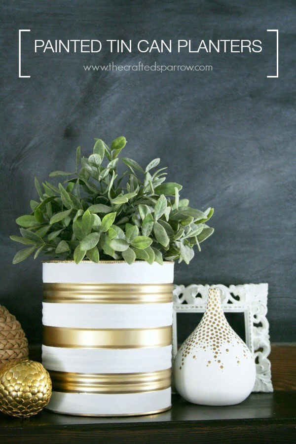 Painted Tin Can Planters #DIY #homedecor #tincan #crafts #repurpose #upcycle