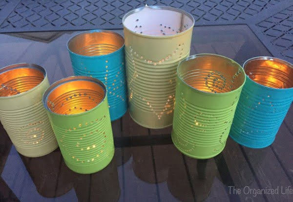 DIY Tin Can Lanterns #DIY #homedecor #tincan #crafts #repurpose #upcycle