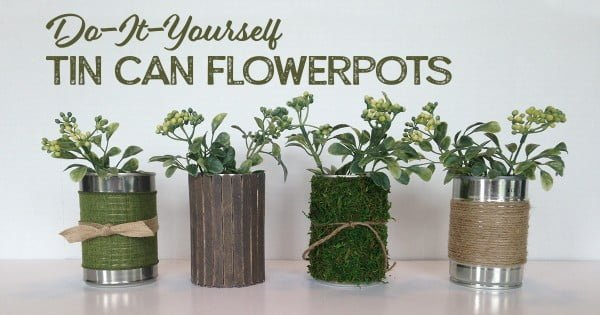 Tin Can Project: DIY Flower Pot #DIY #homedecor #tincan #crafts #repurpose #upcycle