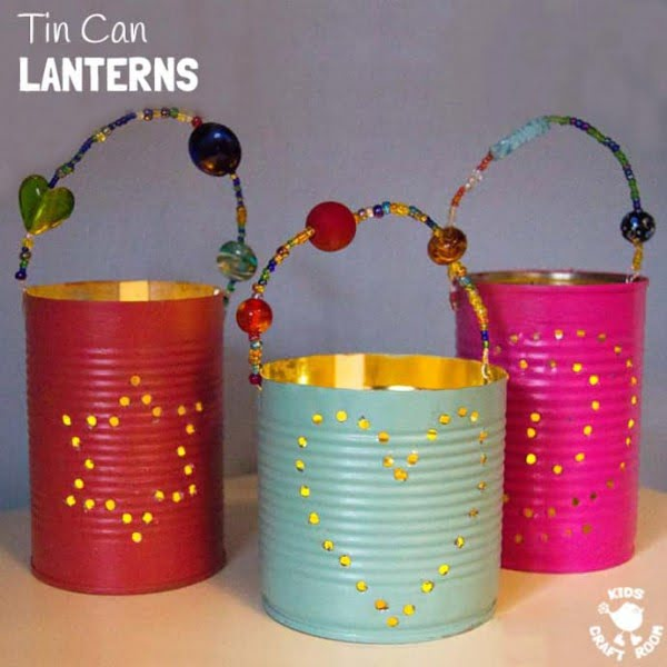 TIN CAN LANTERNS #DIY #homedecor #tincan #crafts #repurpose #upcycle
