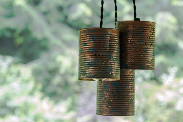 DIY Beautiful Tin Can Pendant Lights #DIY #homedecor #tincan #crafts #repurpose #upcycle