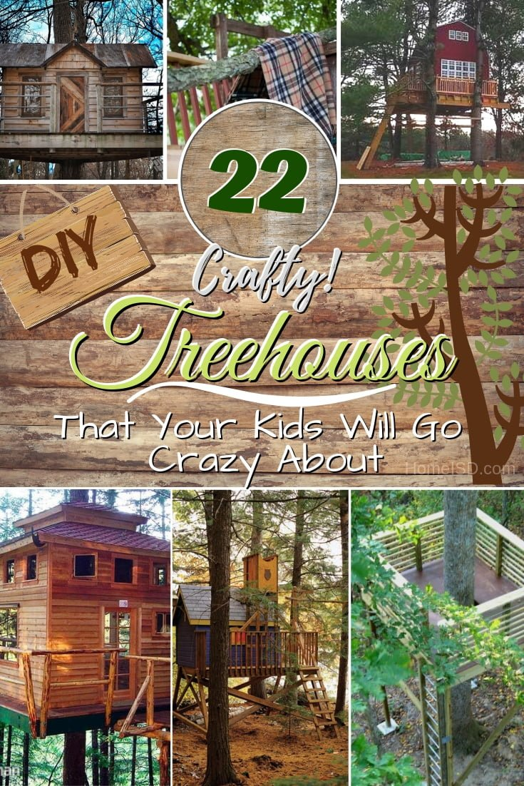 Make memories for your kids by building a DIY treehouse in your backyard. Great ideas! #DIY #outdoors #backyard #woodworking