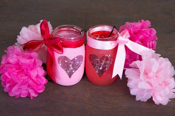 Valentine's DIY Mason Jar Centerpiece