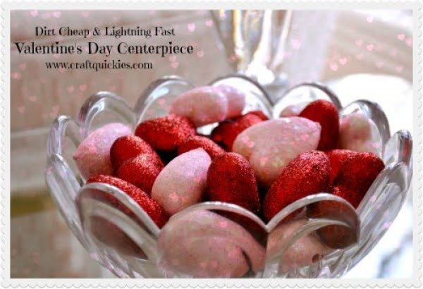 DIY Cheap & Fast Valentine's Day Centerpiece