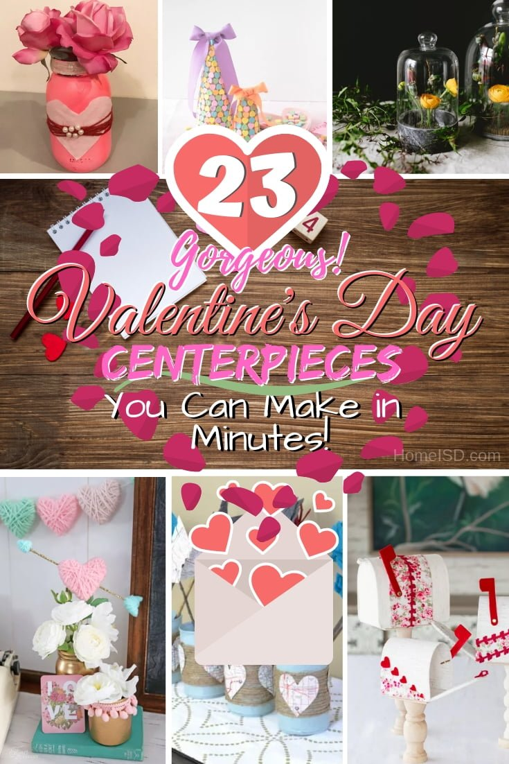 Celebrate the Cupid's Holiday with simple but gorgeous DIY Valentine's Centerpieces. Get inspired by these awesome ideas! #homedecor #DIY #valentinesdaydecor