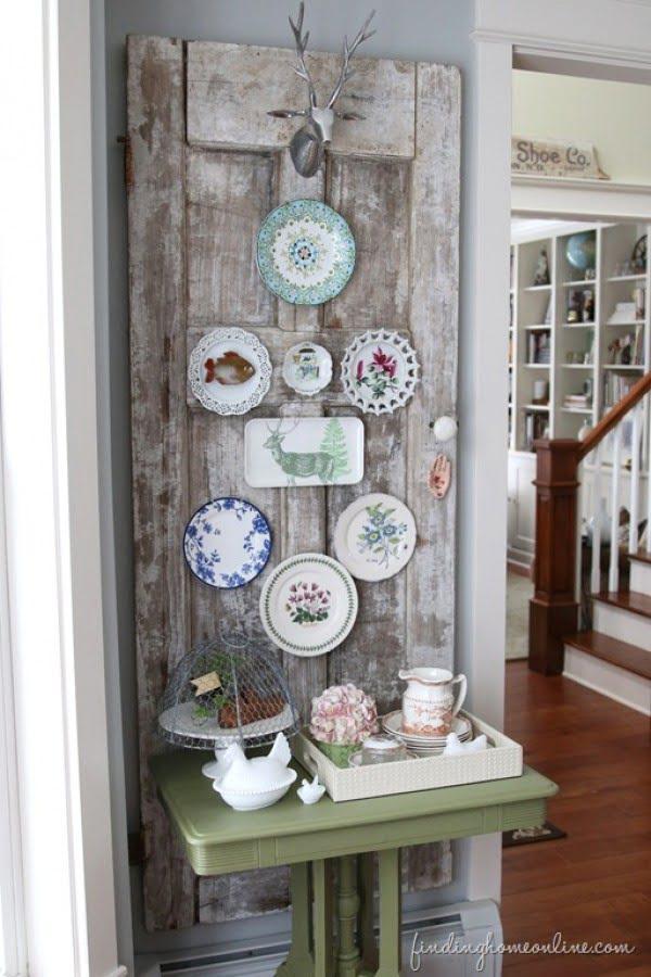 Decorating Ideas: Vintage Door Plate Wall