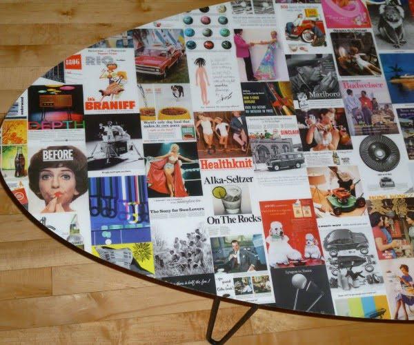 ** VINTAGE AD COFFEE TABLE ** #vintage #DIY #homedecor
