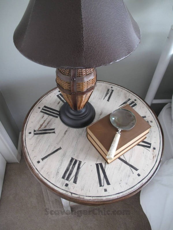 Clock Table from a Flea Market Find