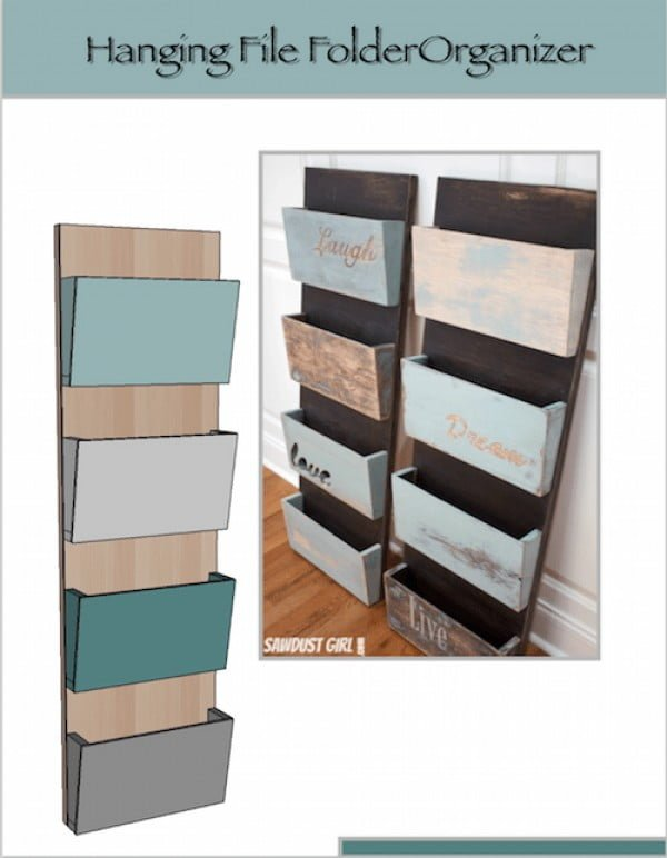 Hanging Organizer DIY Project #DIY #organize #storage #homedecor