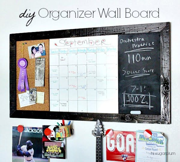 {PB Teen Inspired DIY} Large Organizer Wall Board #DIY #organize #storage #homedecor